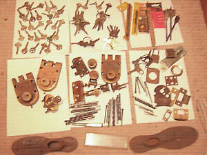 Key Lot With Doorknobs Padlocks Masonry And Drill Bits Over 160 Items Antique