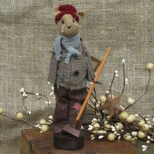 Pearsons Primitives 9 5 Century Farm Poor Boy Mouse With Rake
