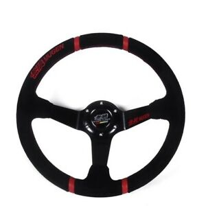 Mugen New 14 Inch Genuine Leather Drifting Steering Wheel For Honda Racing Car