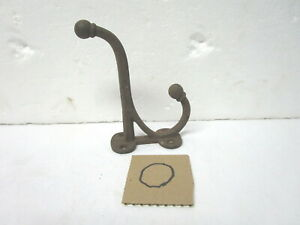 Antique Vintage 6 Inch Cast Iron Double Ended Coat Hook