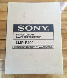 Genuine Sony Projector Lamp Bulb Lmp p200 Nos Japan