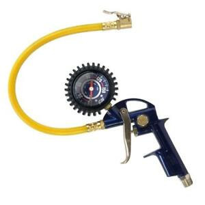 3 In 1 Premium Tire Inflator With Pressure Gauge And Straight Lock On Air Chuck