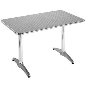 Aluminum Commercial Restaurant Table 27x43 Rectangle Bar Dining Outdoor Use