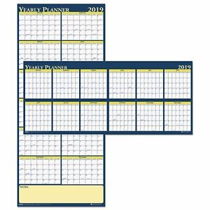 House Of Doolittle Recycled Reversible Yearly Wall Planner 60 X 26 2019