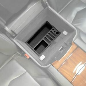Fits Cadillac Escalade 2015 19 Center Console Black Waterproof Organizer Insert
