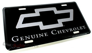 New Genuine Chevrolet License Plate Aluminum Stamped Metal Auto Car Truck Tag