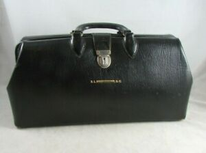 Doctors Medical Bag Black Top Grain Cow Hide Leather 25 16 Vintage Kruse