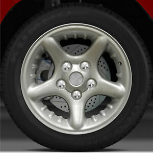 17x8 Factory Wheel Bright Sparkle Silver Full Face For 2003 05 Dodge Ram 1500