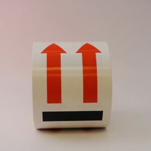 Up Facing Arrows Labels 4 X 6 500 Per Roll Shipping Label