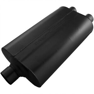 Flowmaster 525552 Super 50 Muffler 2 50 Center In 2 25 Dual Out Mild Sound