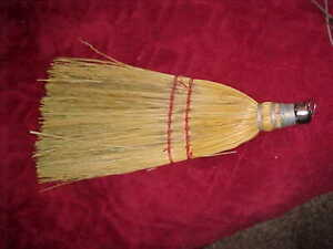 Whisk Broom Straw Hand Tool Kitchen Hearth Fireplace Antique Vintage Old Country