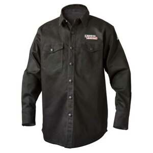Lincoln Electric K3113 9 Oz Fr Black Welding Shirt X large