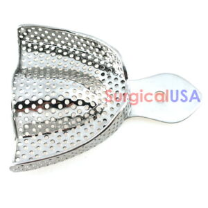 Impression Tray Upper Medium Size Perforated Design Stainless Steel