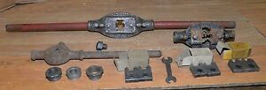 Huge Antique Threading Tap Die Blacksmith Machinists Tool Lot Collectible