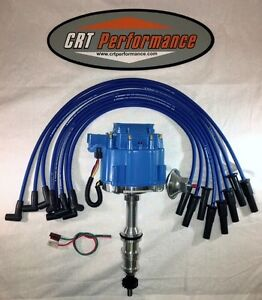 Ford Fe Hei Distributor 332 352 360 390 406 427 428 Blue Silicone Plug Wires