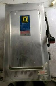 Square D 100 Amp Stainless Steel Non fused Safety Switch 600 Vac 100 Hp Hu363ds