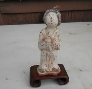 Ancient Chinese Sui Dynasty Court Lady Tulip Bun Hair Offering Wine 5 Painted
