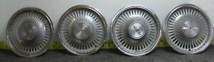 Oem Gm Set Of 4 14 Hub Cap Wheel Cover 00410220 1972 73 Cutlass Oldsmobile 1072