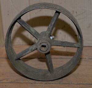 Hit Miss Engine Pulley Flat Belt Style 10 Diameter 3 1 4 Wide Collectible