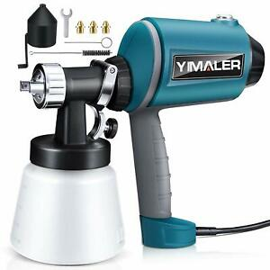 Yimaler Paint Sprayer 450w Airless Spraying Electric Hvlp Spray Gun With 3