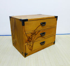 Japanese Old Cedar Wooden Chest Drawers Japan
