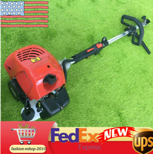 De 2stroke 52cc Gas Power Sweeper Hand Held Broom Cleaning Driveway Turf Grass