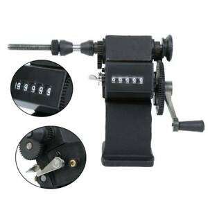 Dual Purpose Manual electric Coil Winder Machine counter Hand Coil Winding Tool