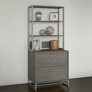 Office By Kathy Ireland Method Lateral File Cabinet With Hutch