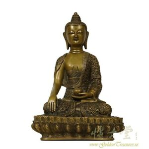 Tibetan Antique Carved Bronze Buddha Statuary