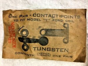 Nos Vintage Model T Ford Kingston Points Wood Coil Box Ignition Part
