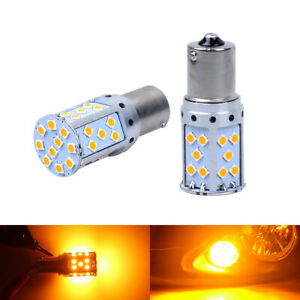 Canbus Amber Bau15s 7507 Py21w 1156py Led Yellow Pair Bulb Car Turn Signal Light