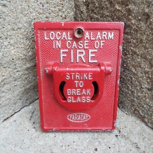 Vintage Faraday Fire Alarm Strike To Break Glass Cover Local Alarm Very Neat