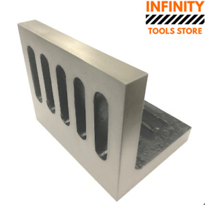 150x125x112mm Angle Plate Slotted Open End Closed Grain Cast Iron Premium