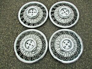 1980 To 1990 Lincoln Town Car 15 Inch Wire Spoke Hubcaps Wheel Covers Beaters