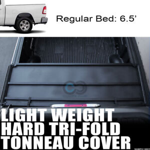 Fits 19 Dodge Ram 1500 6 4 Ft 76 8 Bed Lw Hard Tri Fold Truck Tonneau Cover