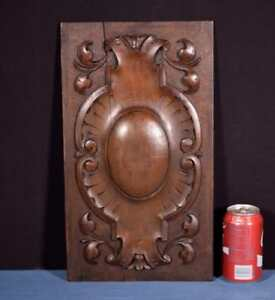 French Antique Decorative Panel Door In Solid Walnut Wood Salvage
