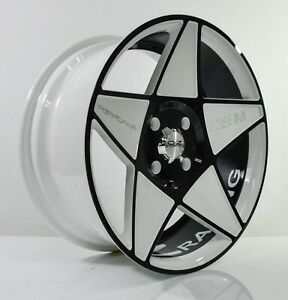4pcs Oz Racing 17inch 8j 4x114 3 5x114 3 Alloy Wheels Cheap Rims White Star 3