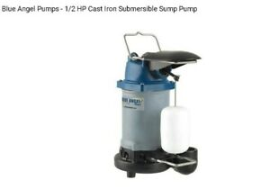 Blue Angel 1 2 Hp Cast Iron Submersible Sump Pump Vertical Float F50s