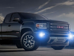White Halo Fog Lamps Driving Light Kit For 2015 2019 Gmc Canyon
