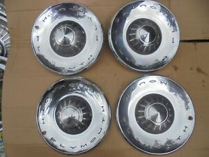 1962 62 Plymouth Fury 14 Wheel Covers Hub Caps