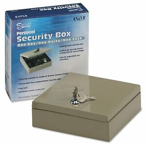 Pm Company Securit Steel Personal Cash security Box With 4 Compartments Key Lock