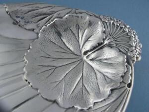 Sterling Meriden 9 Dish W Floral Water Lily Pad Design Wd126 7 49 Troy Ozs