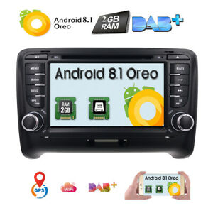 7 Android 8 1 Car Stereo Dvd Player Dab Radio For Audi Tt Mk2 Gps Navigation F