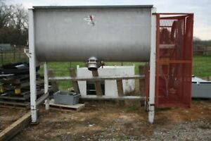 Rapids Machinery Marion Tub Paddle Batch Mixer Stainless Steel 20 Hp Walk