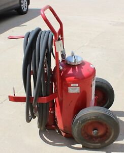 Vtg Amerex Ax33 Dry Chemical Wheeled Cart Fire Extinguisher Industrial