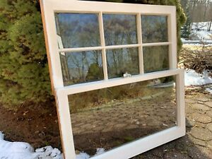 2 Vintage Window Sash 32 X 17 Top Old 6 Pane From 1960s Arts Crafts
