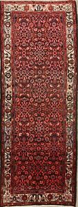 One Of A Kind All Over Floral Hamedan Persian Hand Knotted 4x10 Runner Rug