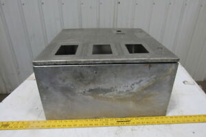 Stainless Steel Wall Mount Electrical Enclosure Box 24x24x12 W back Plate