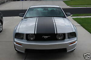 2005 2009 Mustang Center Hood Stripe With Pin Stripes 06 07 08 Stripes Graphics
