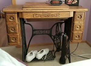Antique Vintage Singer Sewing Machine With Tools Working Michigan Pick Up